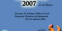 Boadinux 2007 - Prácticas de laboratorio 3D con Software Libre