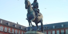 Estatua de Felipe III de España en la Plaza Mayor de Madrid