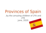 PROVINCES OF SPAIN SECOND GRADE