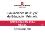 Informe Evaluaciones de 3º y 6º de Educación Primaria 15-16