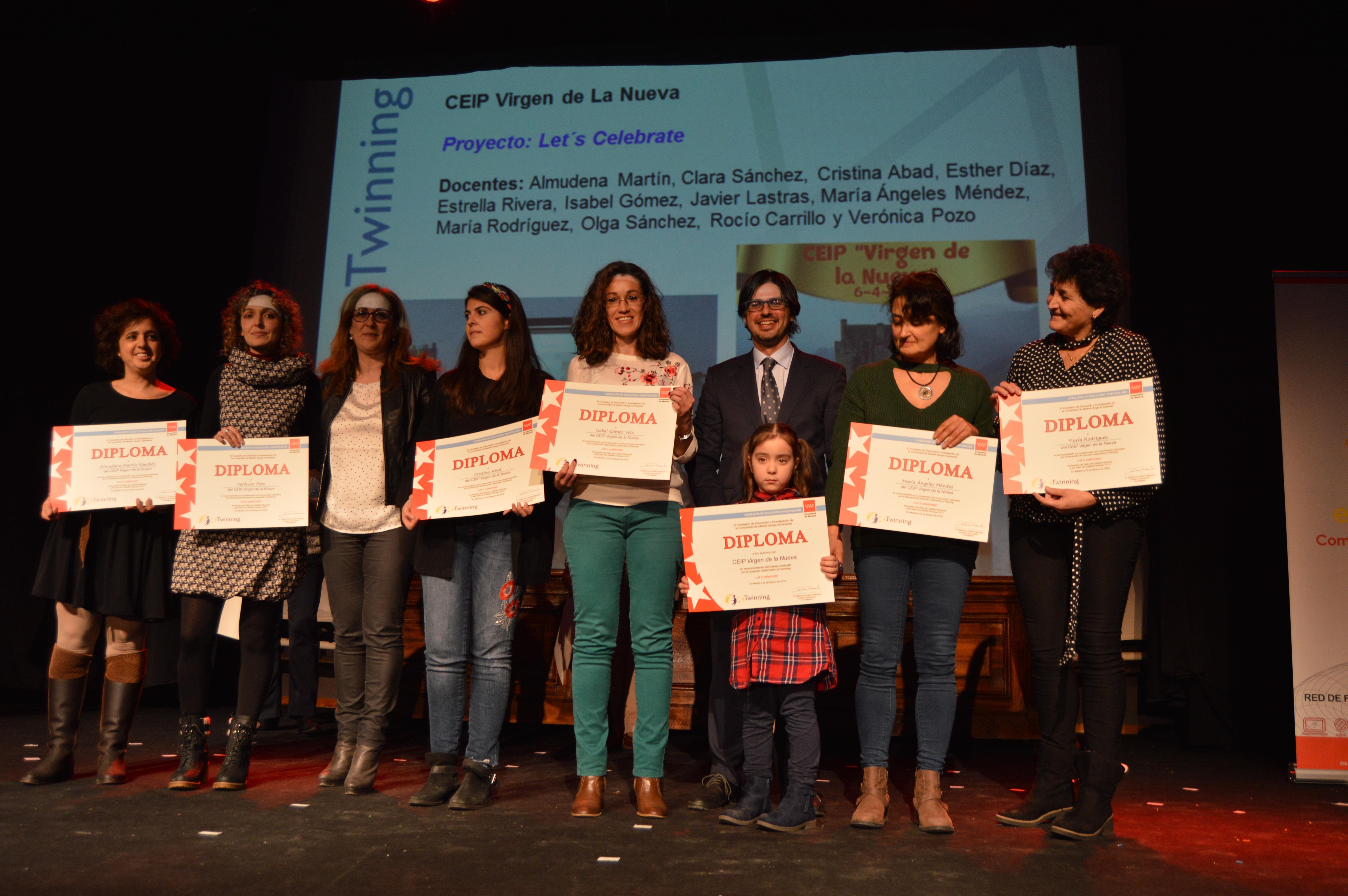 Entrega diplomas II Edición Reconocimiento Sellos de Calidad eTwinning Comunidad de Madrid 6