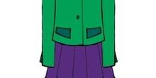 Conjunto de chaqueta y falda amplia