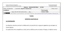 Ficha Deportes Colectivo 2 para 2º ESO