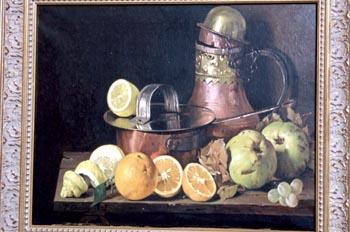 Obra Cofre y frutas, de Felipe Checa - Badajoz