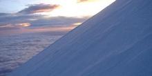 Salida del sol vista desde el glaciar del Pico de Orizaba
