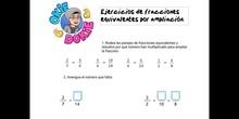 PRIMARIA - 6º - EJEMPLOS FRACCIONES EQUIVALENTES POR AMPLIACIÓN - MATEMÁTICAS - FORMACIÓN