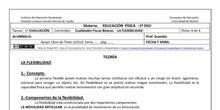 Ficha de Cualidades Físicas Báscias -Flexibilidad para 1º ESO