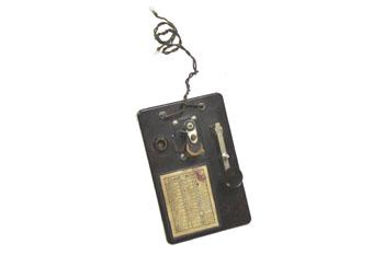 Emisor de señales telegráficas, código morse