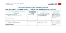 TABLAS SEMANALES 15-19 JUNIO