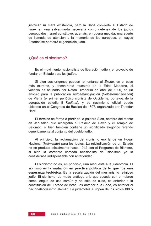 Página 60 de la Guía Didáctica de la Shoá