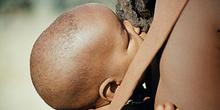 Cabeza de Bebé himba, Namibia