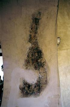 Pintura en intradós en la iglesia de Santa María de Bendones, Ov