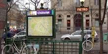 Estación de Metro de Châtelet, París, Francia