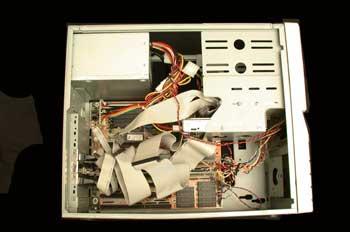 Interior de la CPU de un ordenador