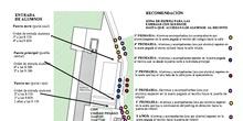 MAPA DE ENTRADA AL CEIP CIUDAD PEGASO