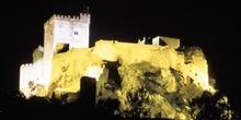 Vista nocturna del Castillo de Luna - Alburquerque, Badajoz