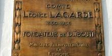 Placa homenaje, Rep. de Djibouti, áfrica