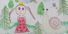 La princesa Carlota y su dragón mascota