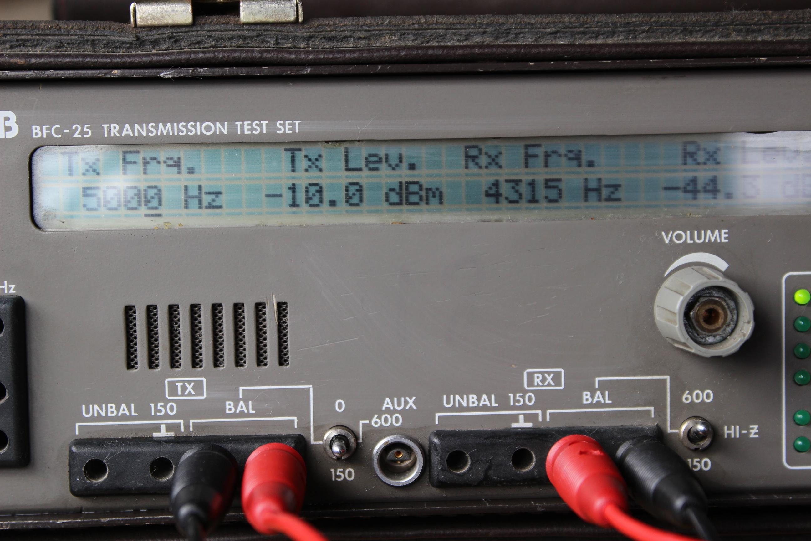 Generador y medidor de nivel en dBm
