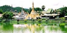 Templo en Mae Hong Song, Tailandia
