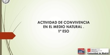 CONVIVENCIA MEDIO NATURAL ESO
