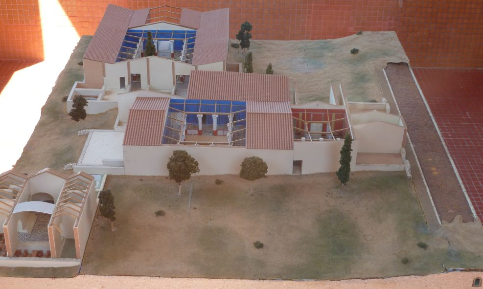 Mérida, maqueta de la casa de Mitreo