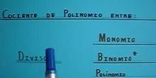 Polinomio entre Monomio