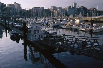 Dársena del puerto deportivo de Gijón, Principado de Asturias