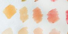 Paleta de color tonos de piel acuarela