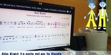 Flauta: nota mí