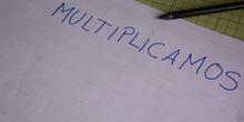 Inicio multiplicación 1 adaptación del tablero Montessori