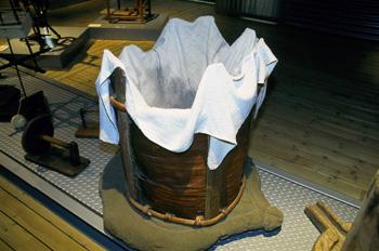 Utensilios domésticos: Bugadero para lavar la ropa, Museo del Pu
