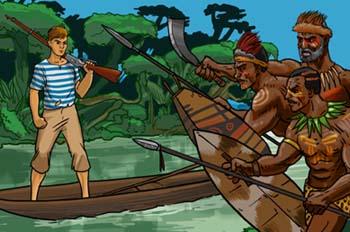 Un capitán de 15 años: Los caníbales atacando a Dick Sand